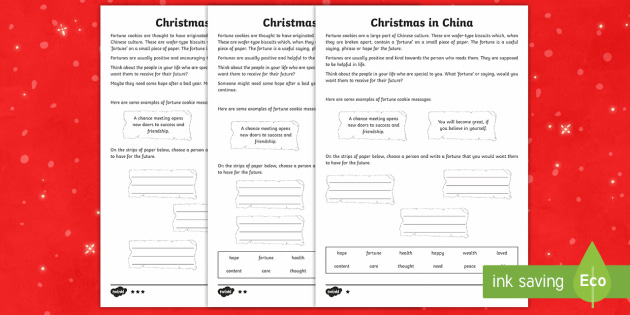 KS2 Celebrating Christmas in China Differentiated Activity Sheet - Christmas, Nativity, Jesus, xmas, Xmas, Father Christmas, Santa, St Nic, worksheet, Saint Nicholas,