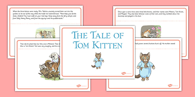 Beatrix Potter - The Tale of Tom Kitten Story - beatrix potter, tom kitten