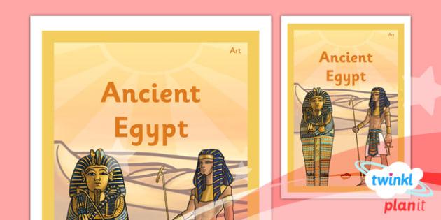 PlanIt - Art UKS2 - Ancient Egypt Unit Book Cover - planit, book cover, art and design, art, uks2, ancient egypt