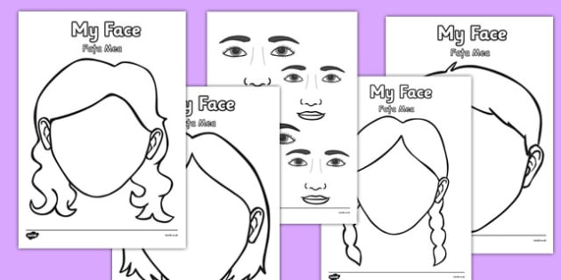 Blank Face Templates with Face Features Romanian Translation - romanian