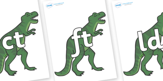 Final Letter Blends on T-Rex - Final Letters, final letter, letter blend, letter blends, consonant, consonants, digraph, trigraph, literacy, alphabet, letters, foundation stage literacy
