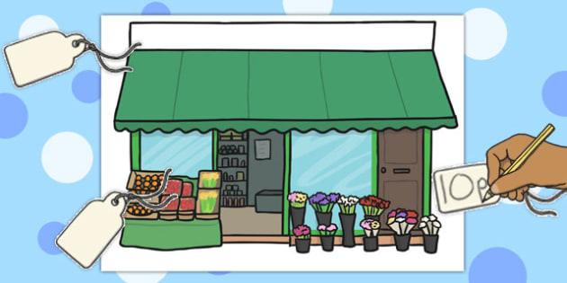 Blank Price Tags and Shop Front Role Play Game - shopping, shops, acting, ativities, shop