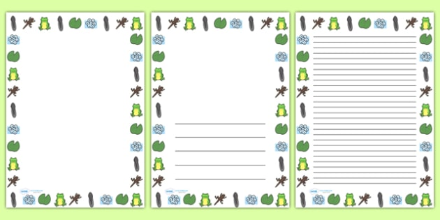 Frog Life Cycle Full Page Borders - life cycle, frog life cycle, frogs, frog, frog page borders, frog life cycle page borders, frog life cycle page border