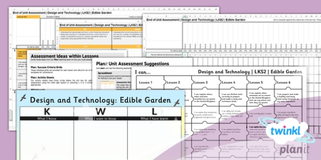PlanIt - Design and Technology LKS2 - Edible Garden Unit Assessment Pack - planit, assessment, pack