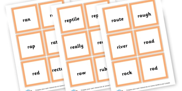 R words - Phoneme Games R Sound Primary Resources - Speech Language Therapy