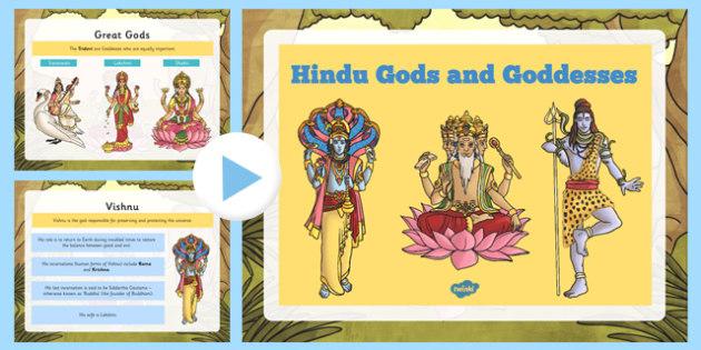 Hindu Gods and Goddesses PowerPoint - hindu, gods, goddesses, powerpoint