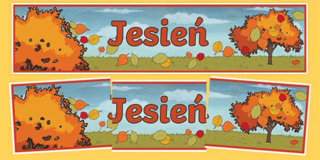 Banner na gazetkę Jesień po polskuh