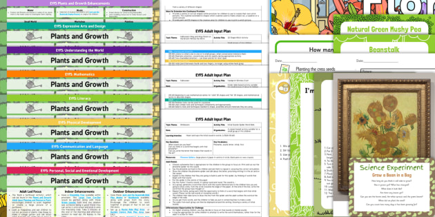 EYFS Plants and Growth Lesson Plan Enhancement Ideas and Resources Pack