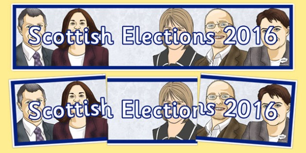 Scottish Elections 2016 Display Banner - CfE, Scotland, politics, government, parliament, elections, voting