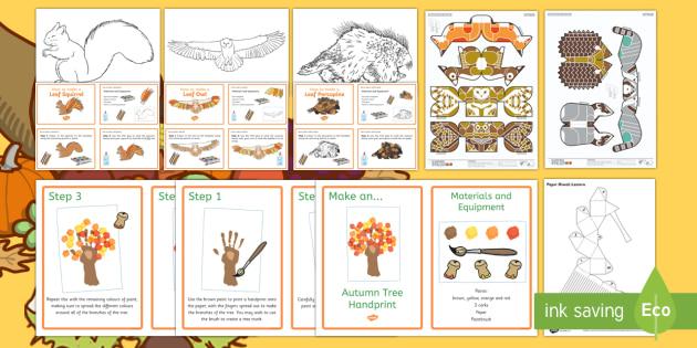 Autumn Crafts Resource Pack - Craft Ideas, Autumn, Elderly Care, Care Homes, Activity coordinators