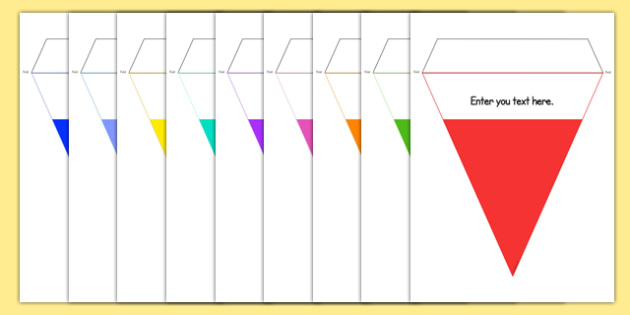 Editable Bunting - editable, bunting, display, signs, classroom