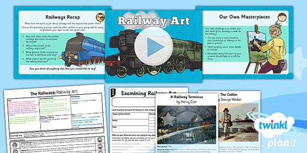 PlanIt - History LKS2 - The Railways Lesson 4: Railway Art Lesson Pack