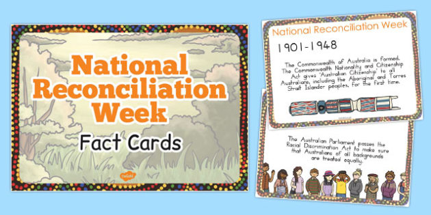 National Reconciliation Week Key Event Timeline Display Fact Card