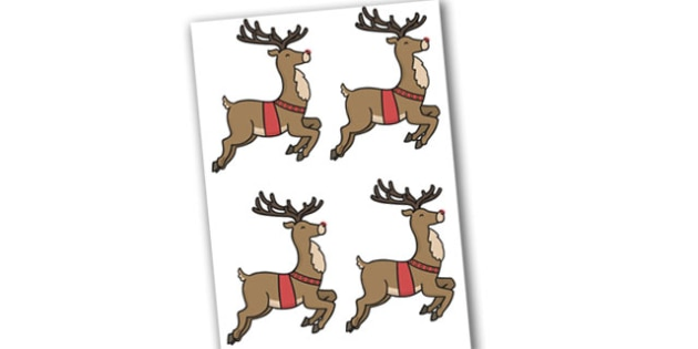 Editable Rudolph - Christmas, xmas, Rudolph, editable, tree, advent, nativity, santa, father christmas, Jesus, tree, stocking, present, activity, cracker, angel, snowman, advent , bauble