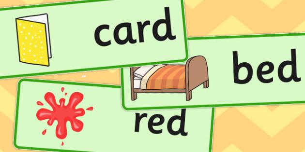 Final D Sound Word Cards - final, d, sound, word cards, cards