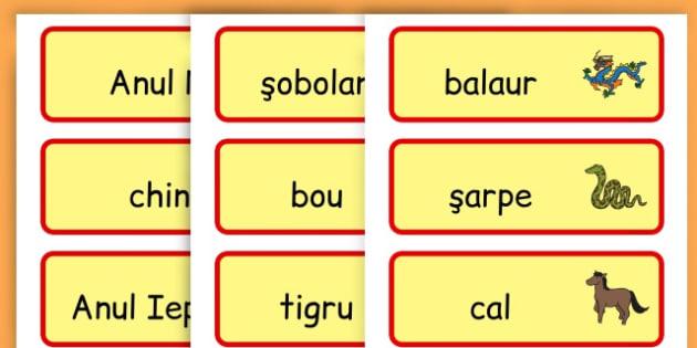 Anul Nou Chinezesc - Cartonașe vocabular