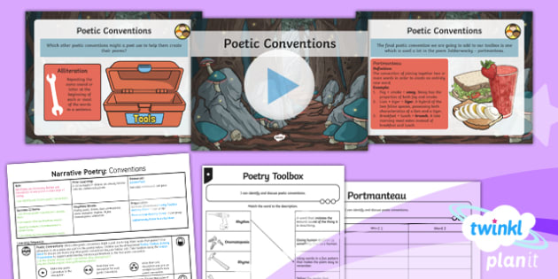 PlanIt Y5 Animals: Jabberwocky Lesson Pack Narrative Poetry (1)