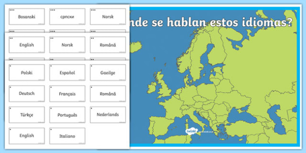 European Day of Languages Spain Differentiated Activity