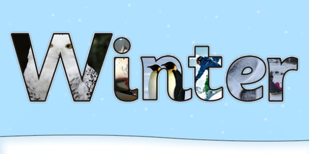 Winter Photo Display Lettering - winter, display, lettering