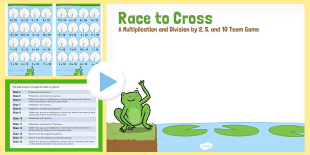 Race to Cross PowerPoint - race to cross, powerpoint, maths