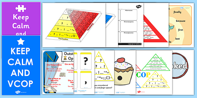 VCOP Resource Pack - VCOP, resource pack, VCOP resources, VCOP pack, pack of resources, vocabulary, connectives, openers, punctuation, pack, games