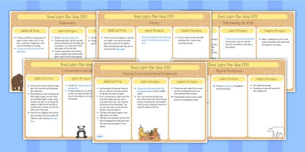 EYFS Bears Lesson Plan Ideas - lesson ideas, early years lessons