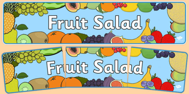 Fruit Salad Display Banner - fruit salad, display banner, display, banner, fruit, salad