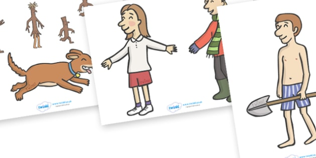 Story Cut Outs to Support Teaching on Stick Man - Stick Man, Julia  Donaldson, resources, family tree, Stick Lady Love, Christmas, Father Christmas, story, story book, story book resources, story sequencing, story resources, cut out