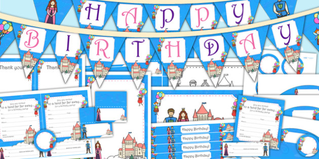 Fairytale Themed Birthday Party Pack - birthdays, parties, party