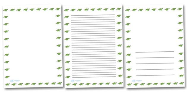 Twinkl Dinosaur Portrait Page Borders- Portrait Page Borders - Page border, border, writing template, writing aid, writing frame, a4 border, template, templates, landscape