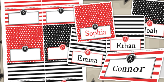 Pirate Themed Birthday Party Place Names - birthdays, parties