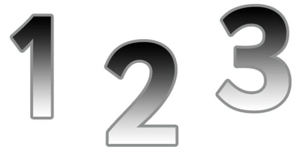 0-9 Display Numbers (Metallic Grad) - Display numbers, 0-9, numbers, display numerals, display lettering, display numbers, display, cut out lettering, lettering for display, display numbers