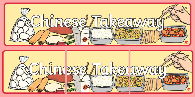 Chinese Takeaway Role Play Banner - chinese takeaway, role play, chinese takeaway display banner, chinese takeaway role play