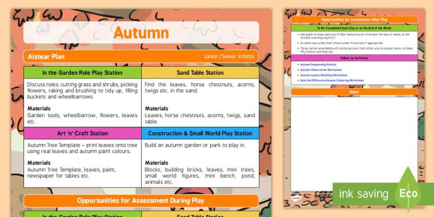 Aistear Autumn Plan - roi, irish, republic of ireland, aistear, autumn, plan
