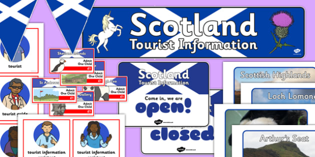 Scotland Tourist Information Role Play Pack - scotland, tourist information, role play, pack