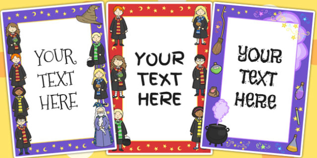 Wizard School Themed Editable Posters - poster, wizards, display