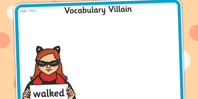 Editable Vocabulary Villain Walked Word Mat - word mat, editable word mat, emotions, vocabulary mat, editable vocabulary mat, mat of word, walked word mat