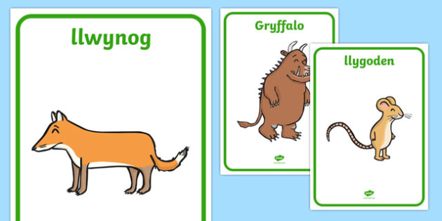 Posteri Y Gryffalo Posteri Arddangos-Welsh