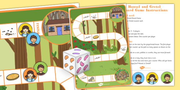 Hansel and Gretel Board Game - games, activity, storybooks