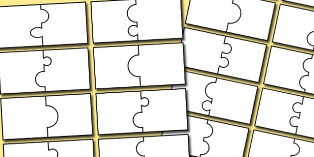 Editable Matching Jigsaw Template - jigsaw, template, matching