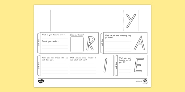 Year 1 Write Up Booklet