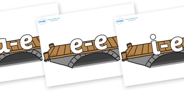 Modifying E Letters on Bridges - Modifying E, letters, modify, Phase 5, Phase five, alternative spellings for phonemes, DfES letters and Sounds