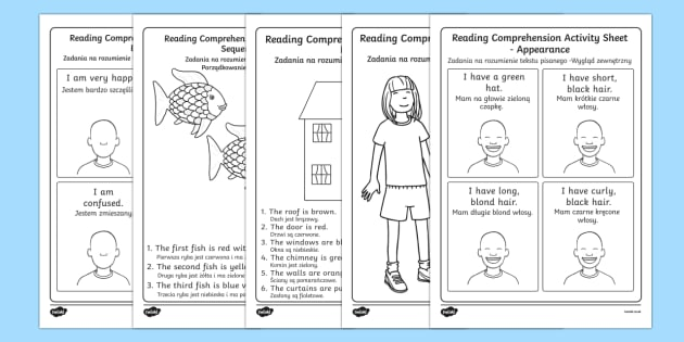 Reading Comprehension Activity Sheets Higher Ability English/Polish