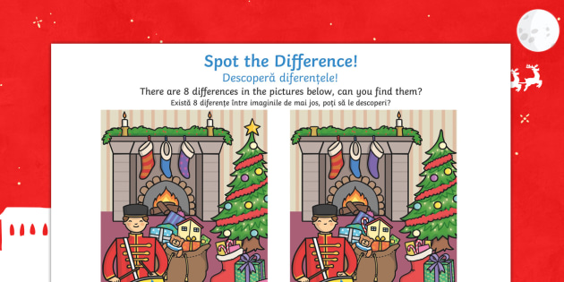 Toy Soldier Spot the Difference English/Romanian - Toy Soldier Spot the Difference - spot the difference, differences, toy soldier, game, fun, activity