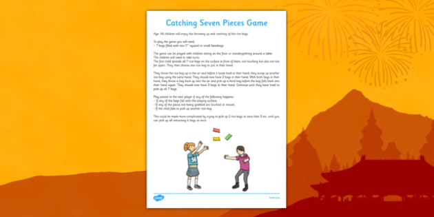 Catching Seven Pieces Chinese New Year Themed Game - catching, seven pieces, chinese new year, themed, game