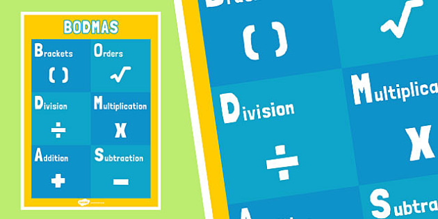 BODMAS Display Poster - bodmas, display poster, display, poster, maths, numeracy
