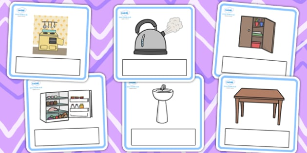 Editable Everyday Objects at Home Cards - editable, everyday objects, home, editable cards, editable, cards, editable cards, english, objects at home