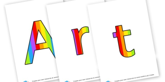 art area - display lettering - Creative Area Primary Resources, sign, area, zones, banner, poster