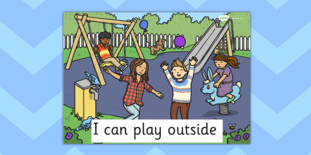 I Can Play Outside Poster - poster, outdoors, play area