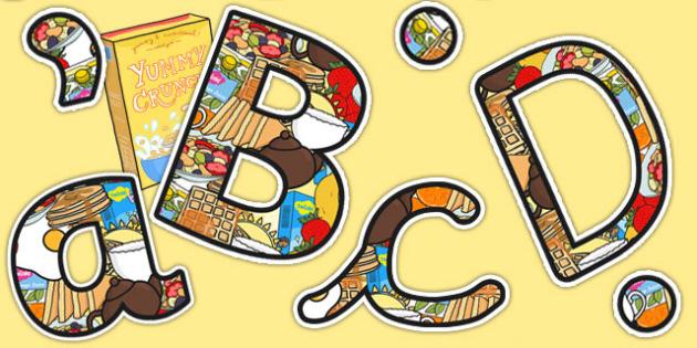 Breakfast Club Themed Size Editable Display Lettering - breakfast club